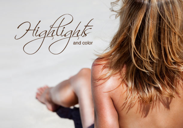 Highlights and hair coloring